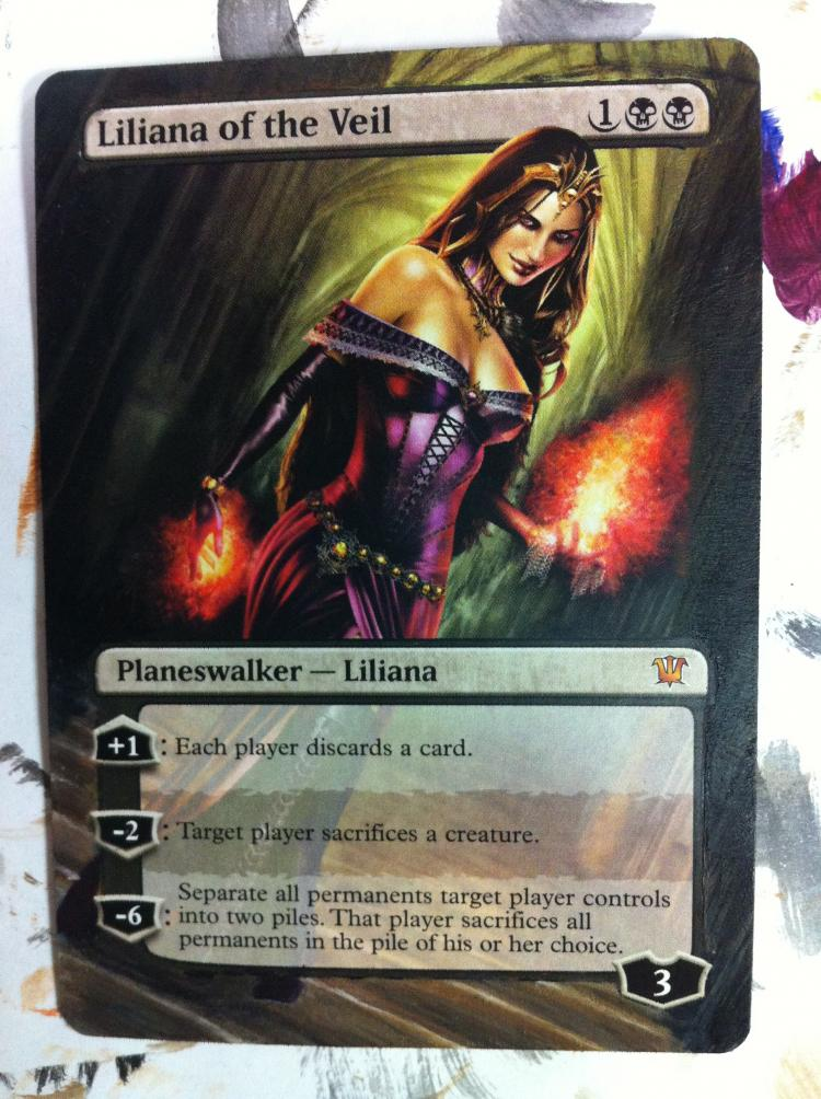 Liliana of the Veil card alter by JB Alterz