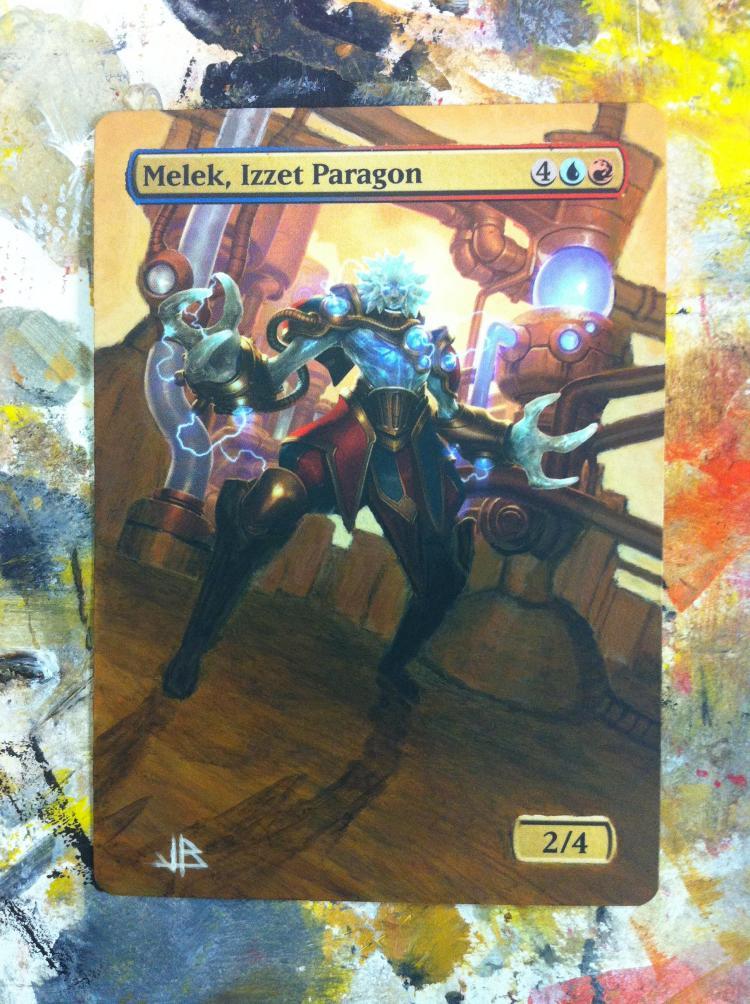 Melek, Izzet Paragon card alter by JB Alterz