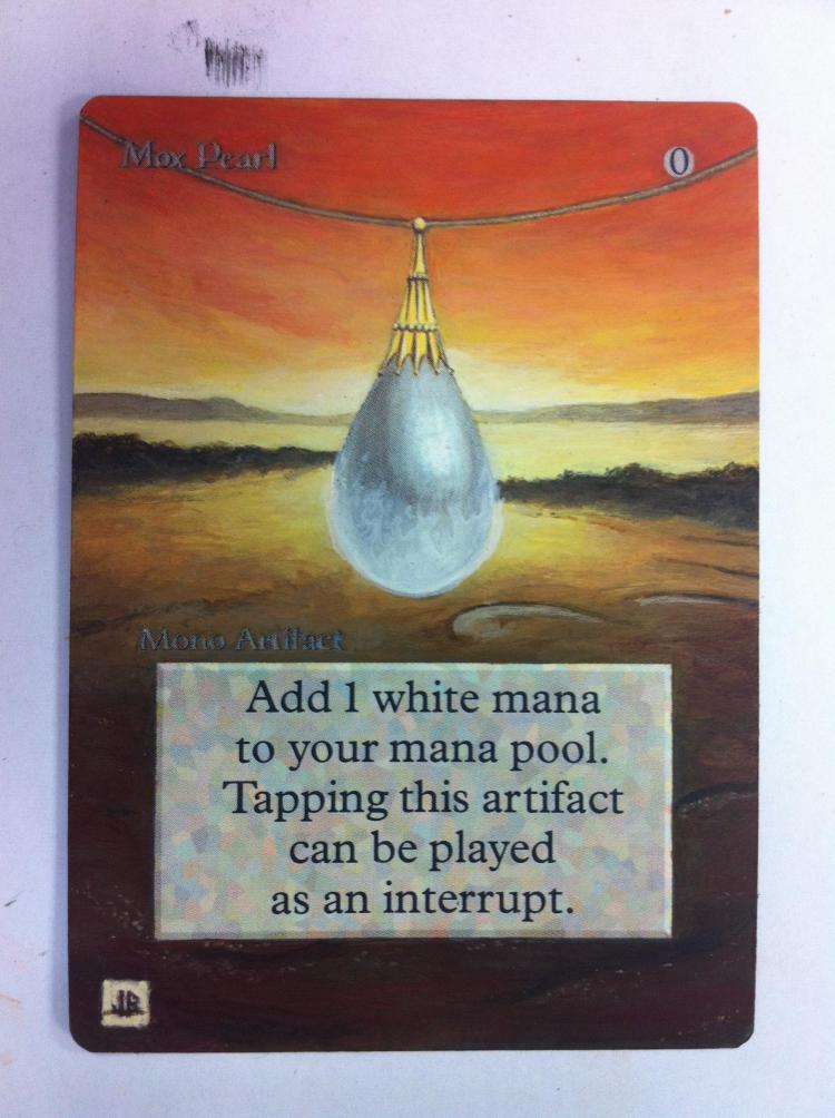 Mox Sapphire card alter by JB Alterz