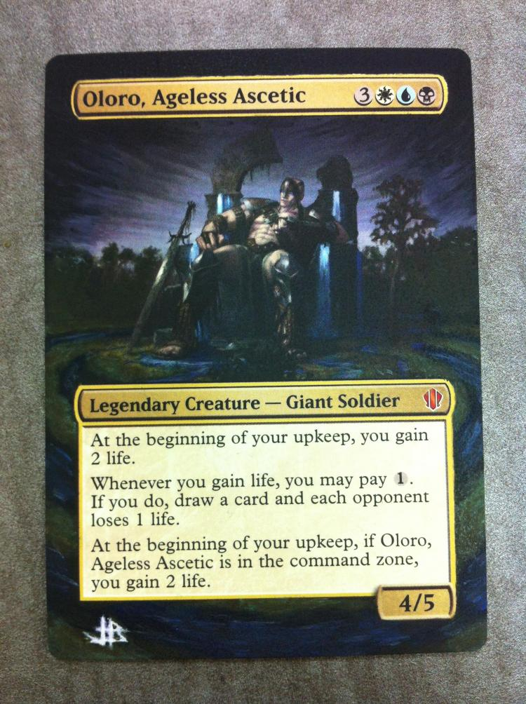Oloro, Ageless Ascetic card alter by JB Alterz