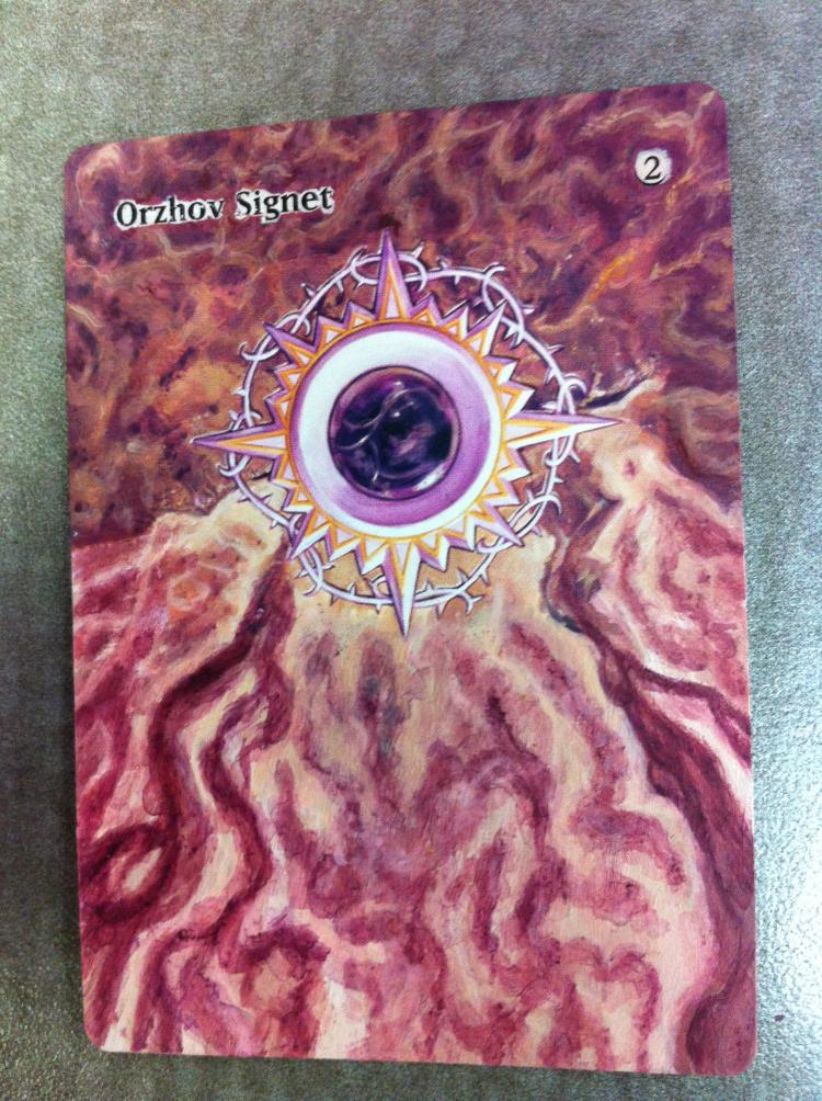 Orzhov Signet card alter by JB Alterz