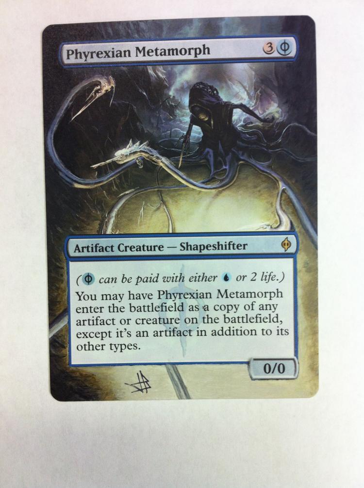 Phyrexian Metamorph card alter by JB Alterz