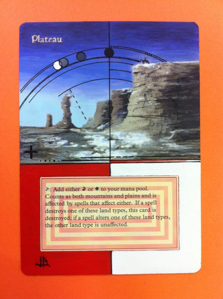 Plateau card alter by JB Alterz
