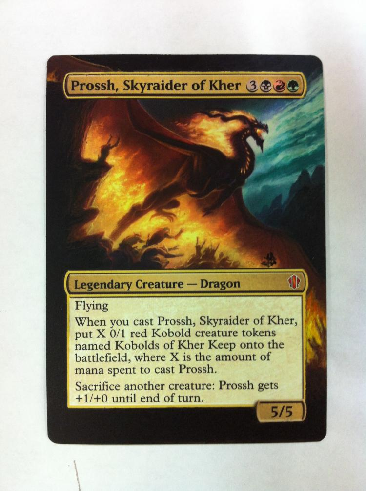 Prossh, Skyraider of Kher card alter by JB Alterz