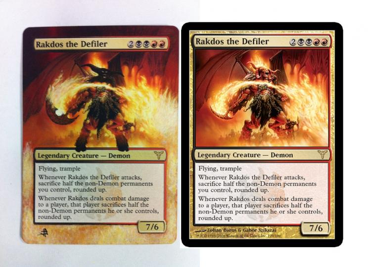 Rakdos the Defiler card alter by JB Alterz
