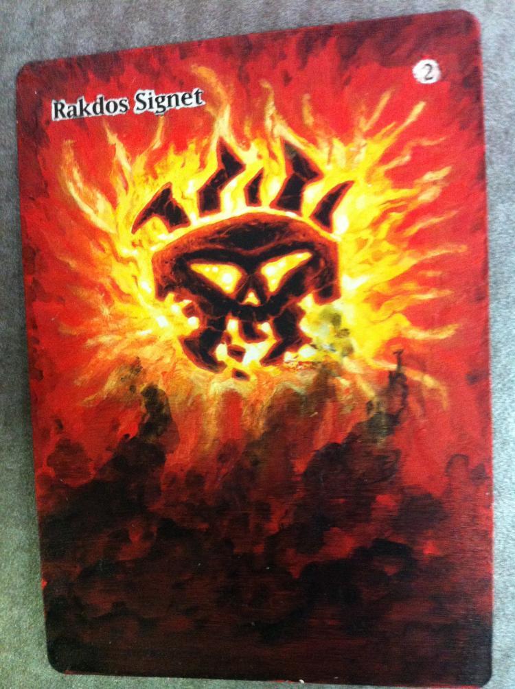 Rakdos Signet card alter by JB Alterz
