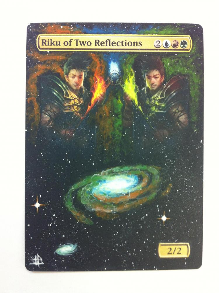 Riku of Two Reflections card alter by JB Alterz