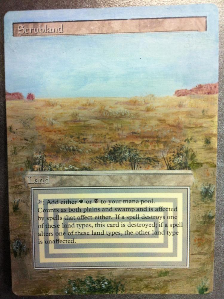 Scrubland card alter by JB Alterz