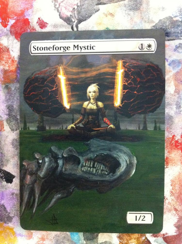 Stoneforge Mystic card alter by JB Alterz