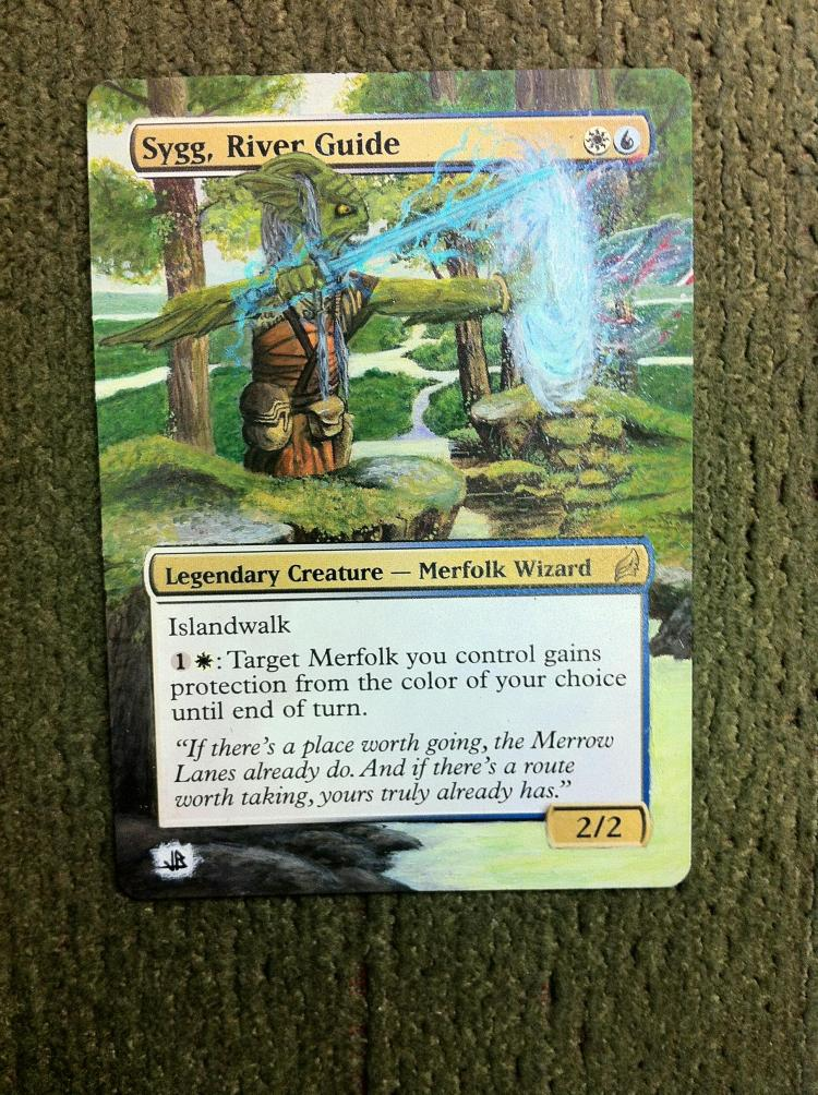 Sygg, River Guide card alter by JB Alterz