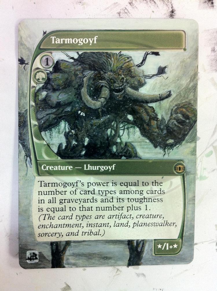 Tarmogoyf card alter by JB Alterz