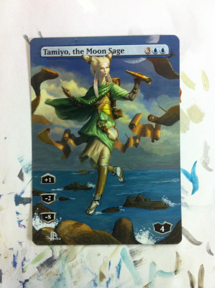 Tamiyo, the Moon Sage card alter by JB Alterz