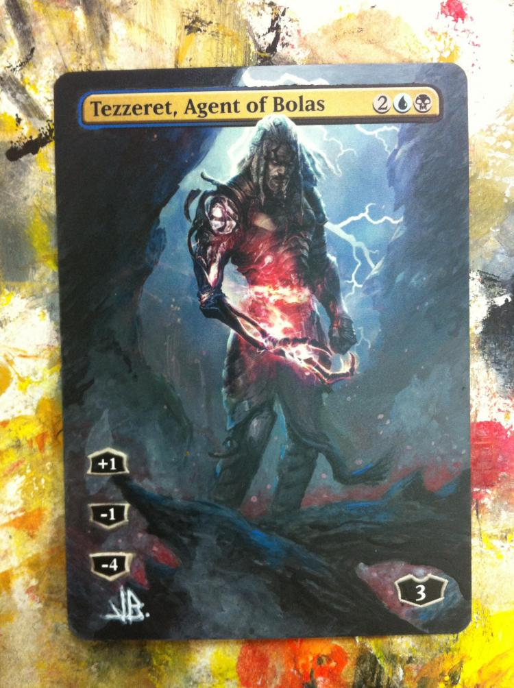 Tezzeret, Agent of Bolas card alter by JB Alterz