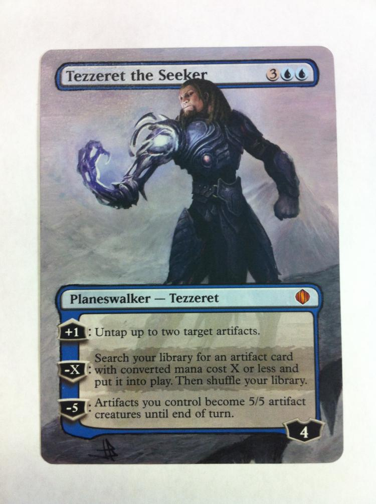 Tezzeret the Seeker card alter by JB Alterz