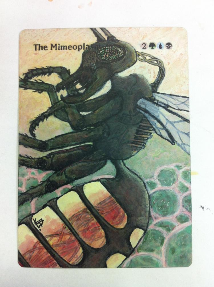 The Mimeoplasm card alter by JB Alterz
