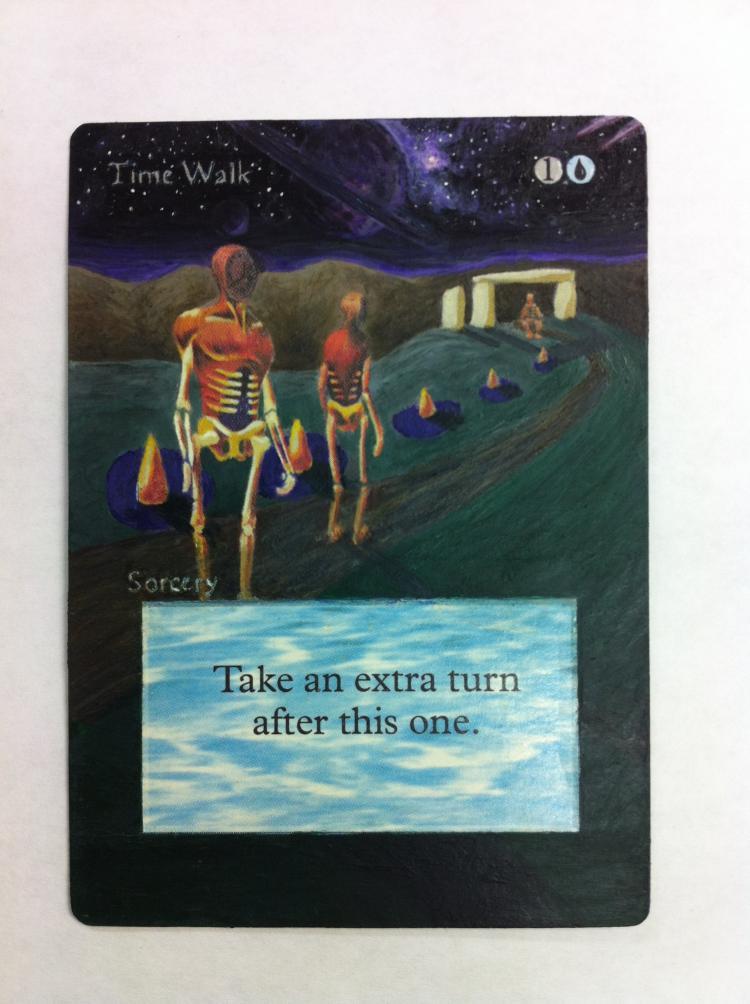 Time Walk card alter by JB Alterz