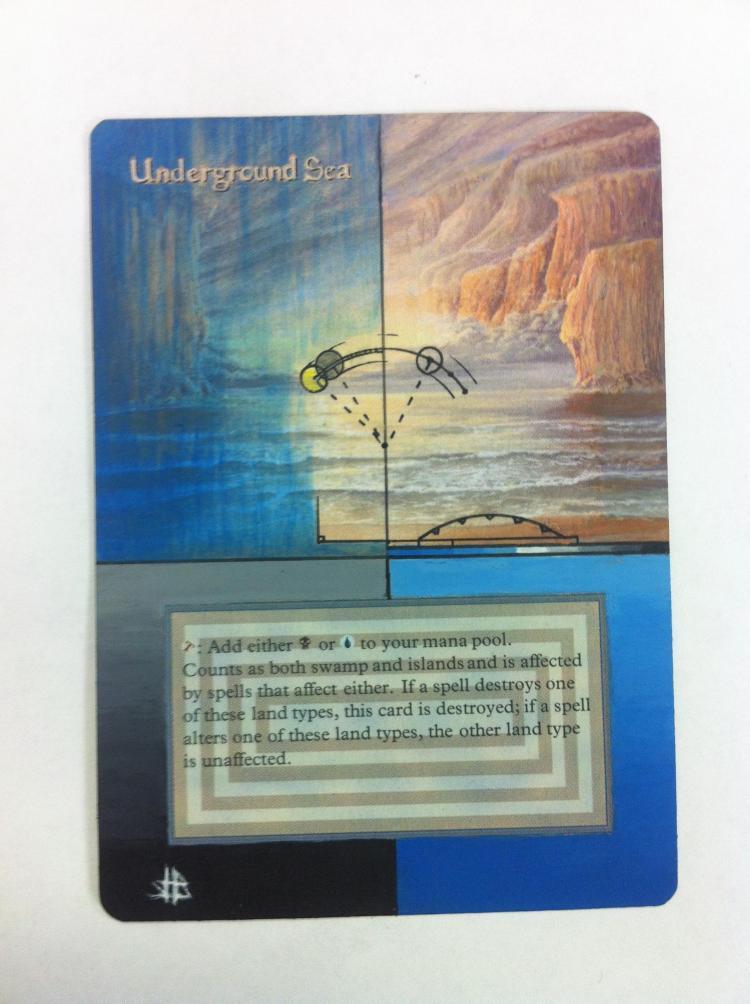 Underground Sea card alter by JB Alterz