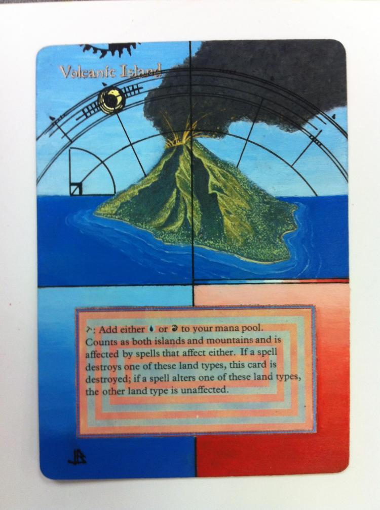 Volcanic Island card alter by JB Alterz