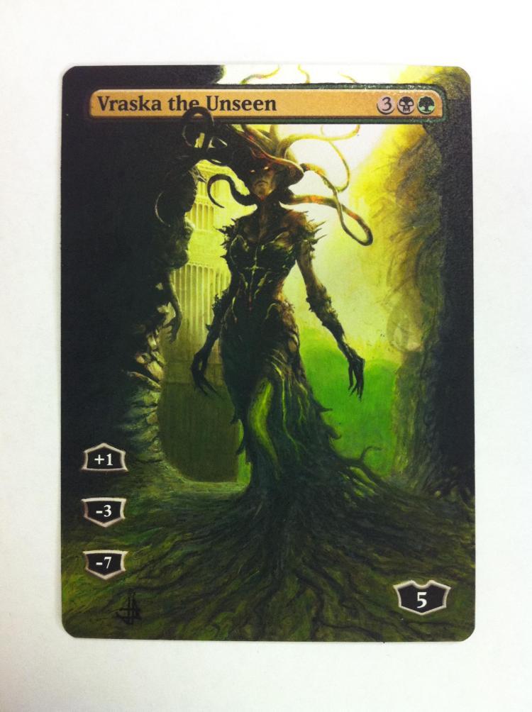 Vraska the Unseen card alter by JB Alterz