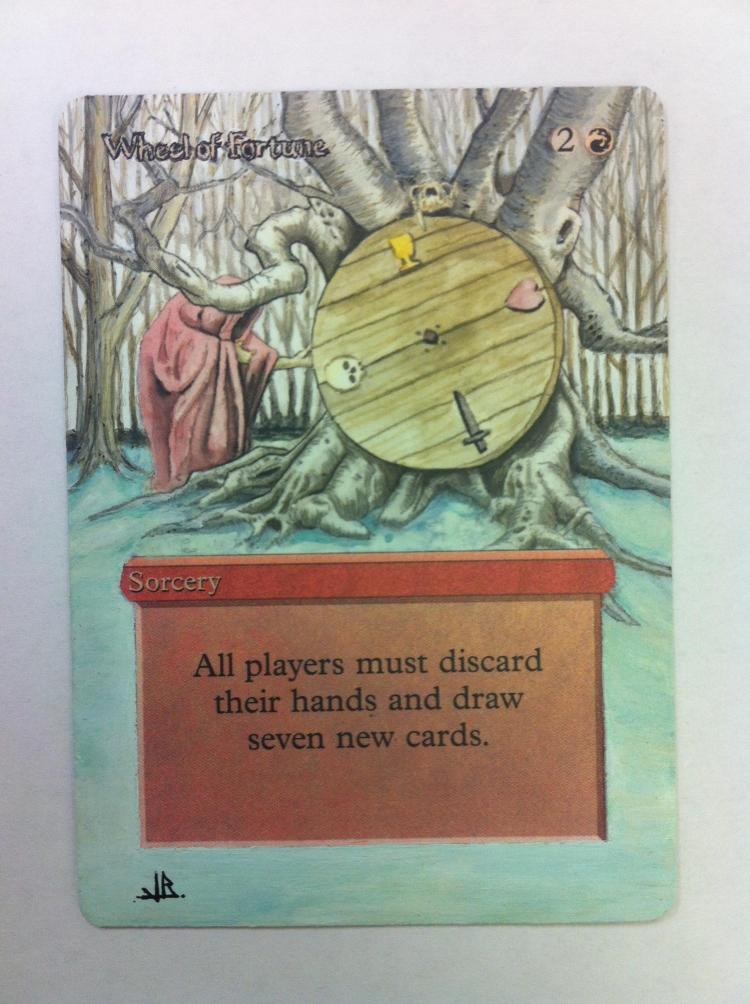 Wheel of Fortune card alter by JB Alterz