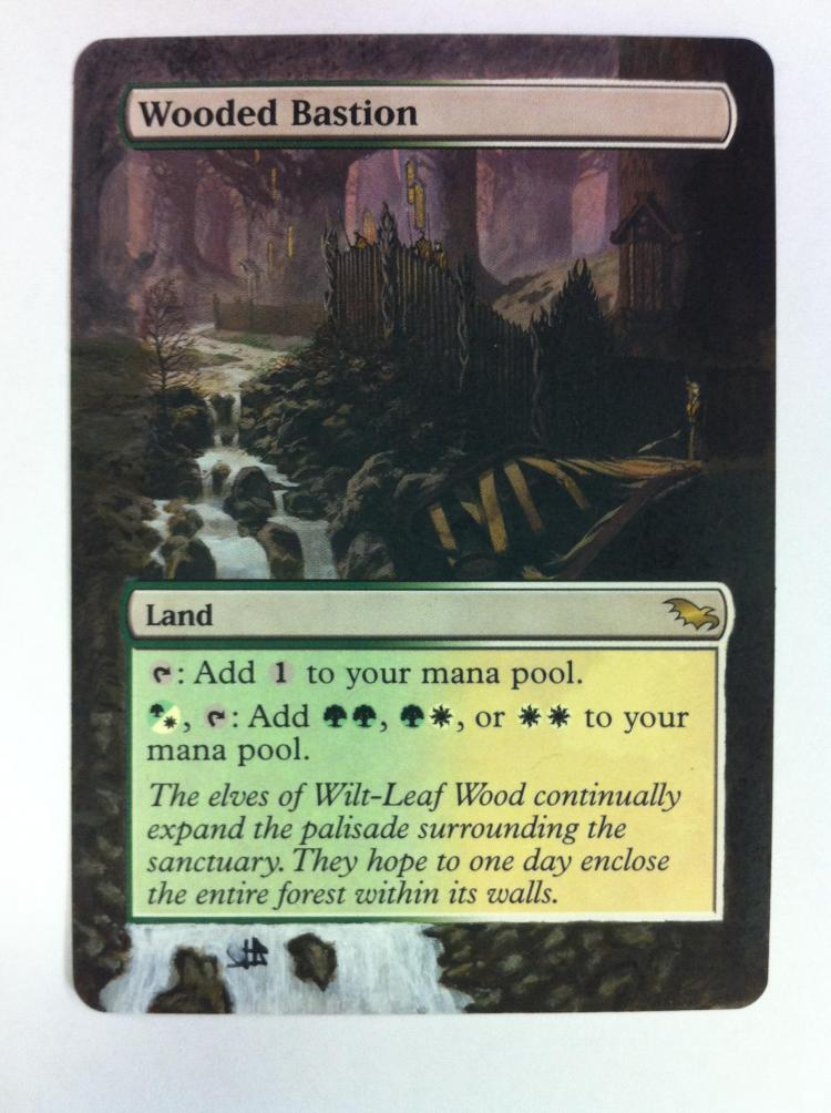 Wooded Bastion card alter by JB Alterz