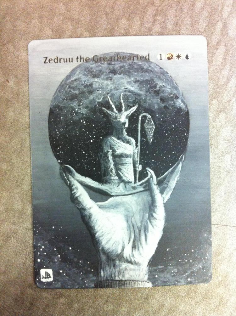 Zedruu the Greathearted card alter by JB Alterz