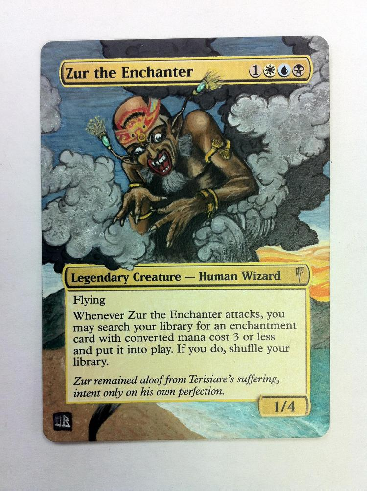 Zur the Enchanter card alter by JB Alterz