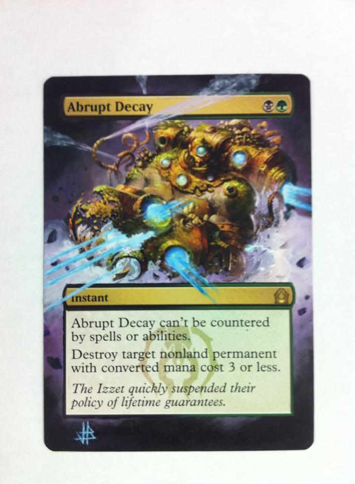 Abrupt Decay card alter by JB Alterz