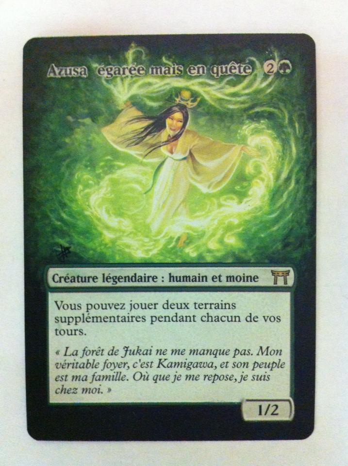 Azusa, Lost but Seeking card alter by JB Alterz