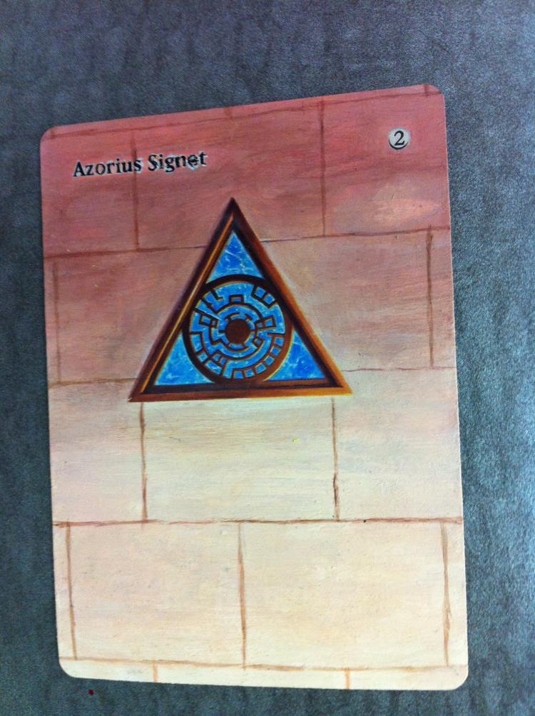 Azorius Signet card alter by JB Alterz