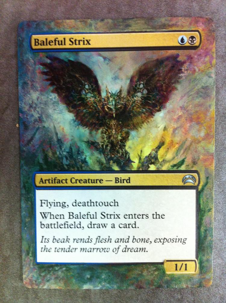 Baleful Strix card alter by JB Alterz