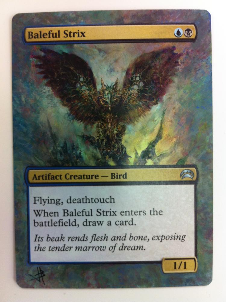 Baleful Strix card alter by JB Alterz