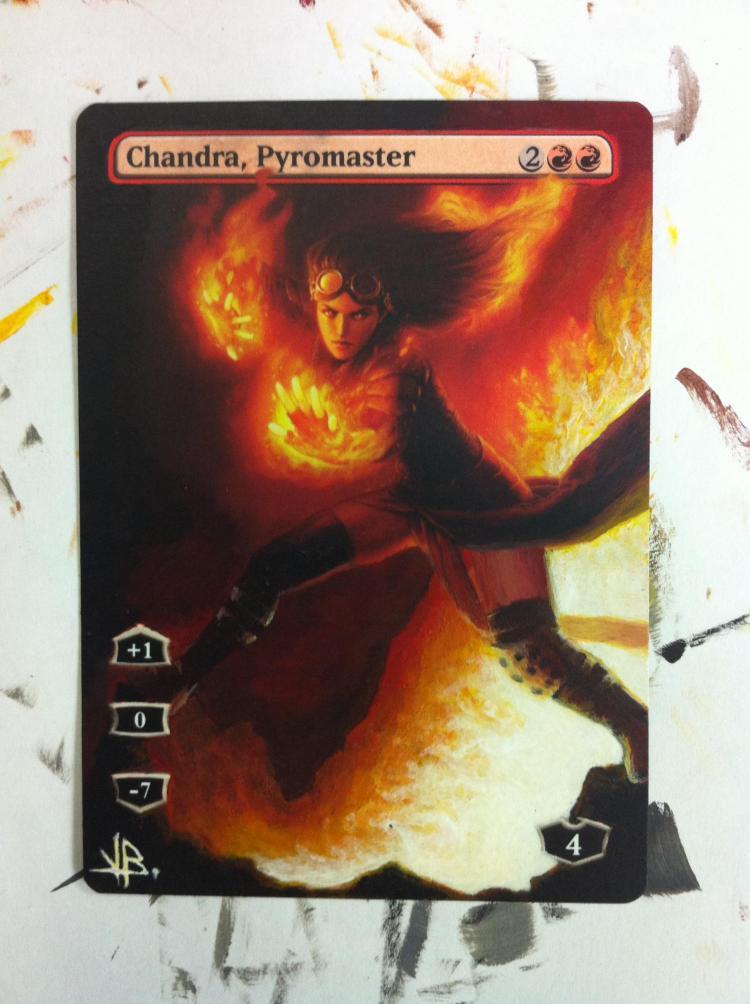 Chandra, Pyromaster card alter by JB Alterz