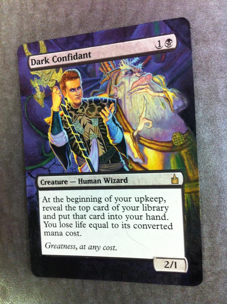 Dark Confidant card alter by JB Alterz