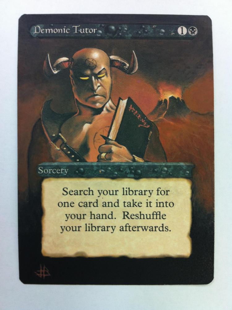 Demonic Tutor card alter by JB Alterz