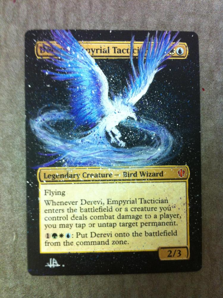 Derevi, Empyrial Tactician card alter by JB Alterz
