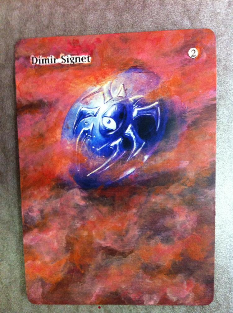 Dimir Signet card alter by JB Alterz