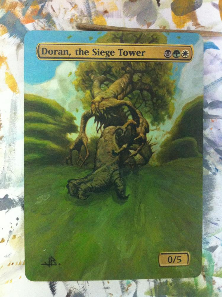Doran, the Siege Tower card alter by JB Alterz