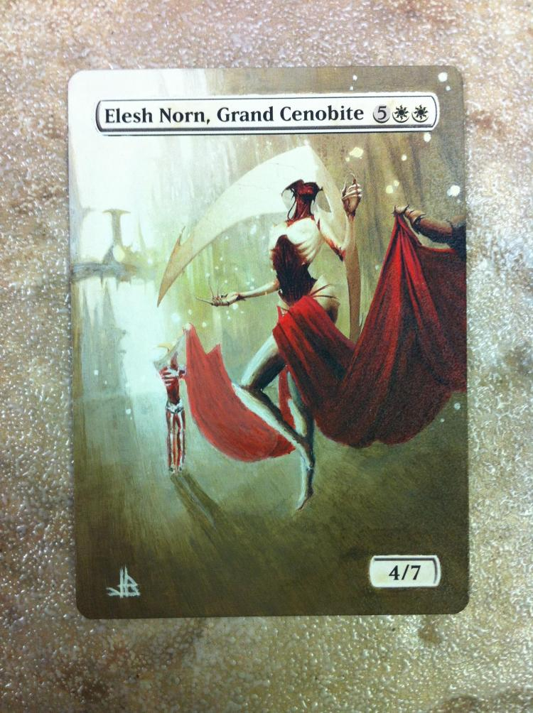 Elesh Norn, Grand Cenobite card alter by JB Alterz