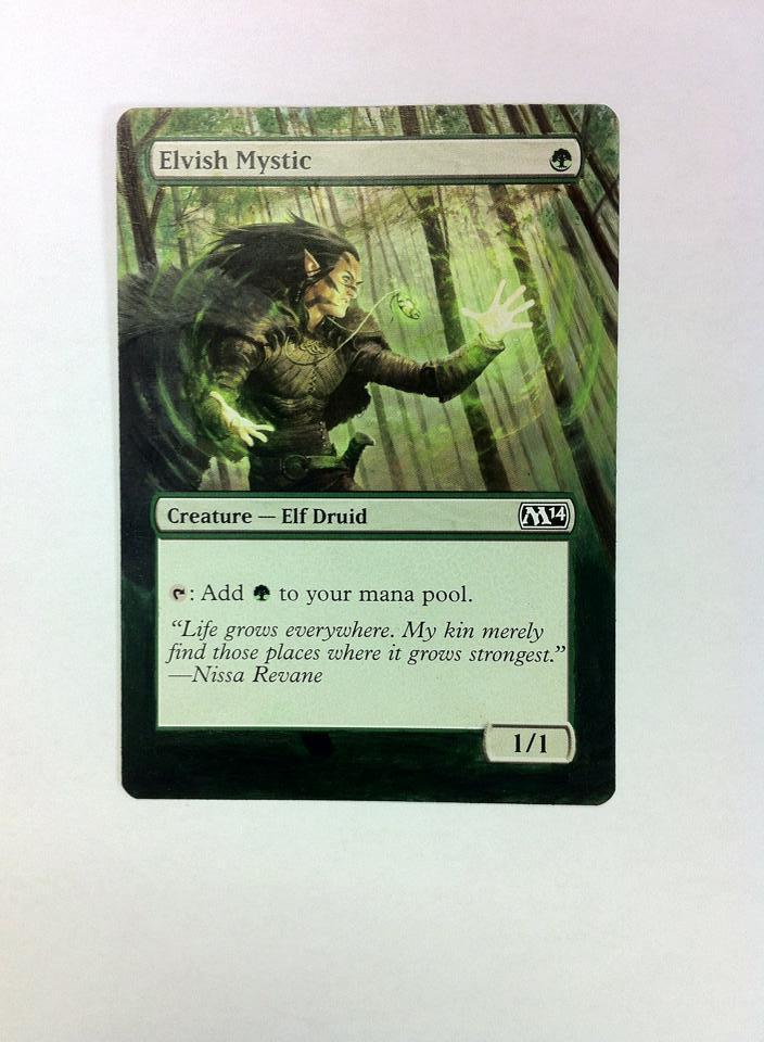 Elvish Mystic card alter by JB Alterz