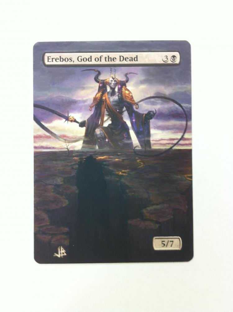 Erebos, God of the Dead card alter by JB Alterz