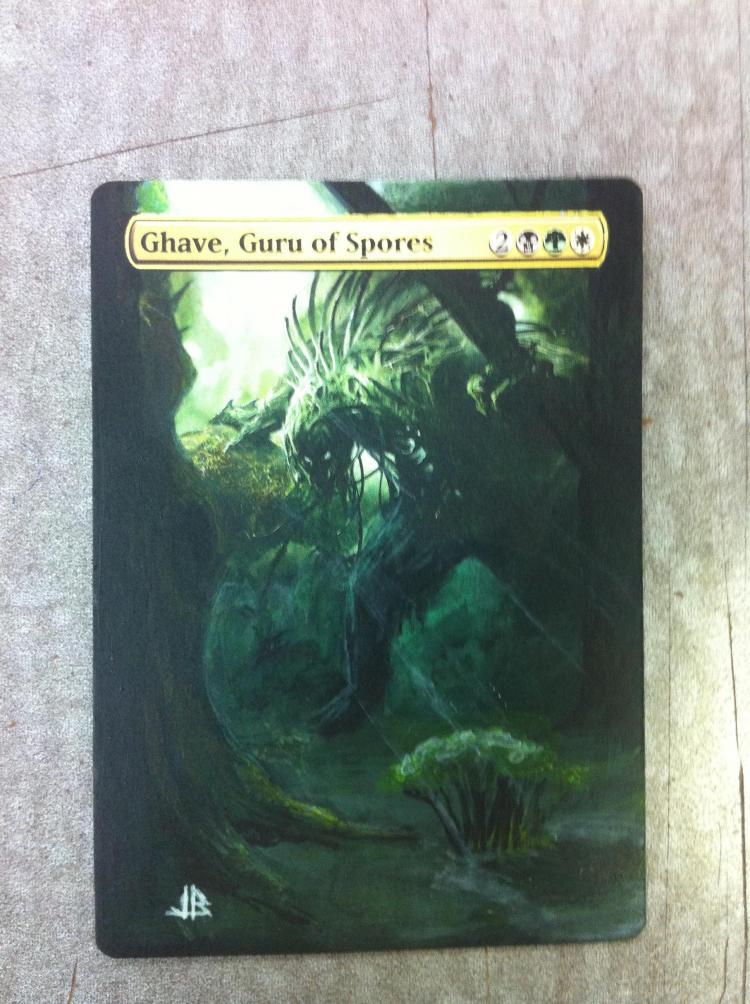 Ghave, Guru of Spores card alter by JB Alterz