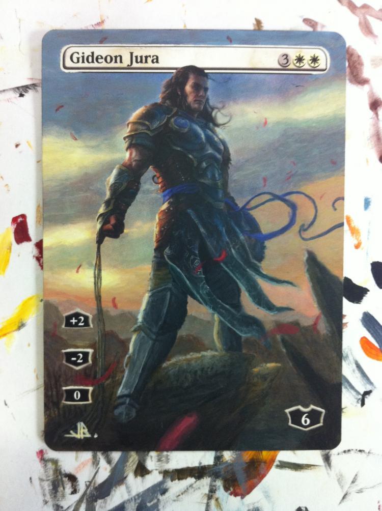 Gideon Jura card alter by JB Alterz