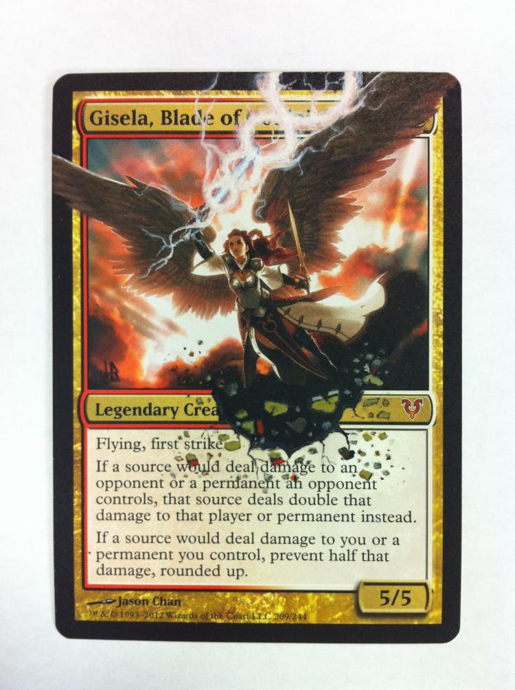 Gisela, Blade of Goldnight card alter by JB Alterz