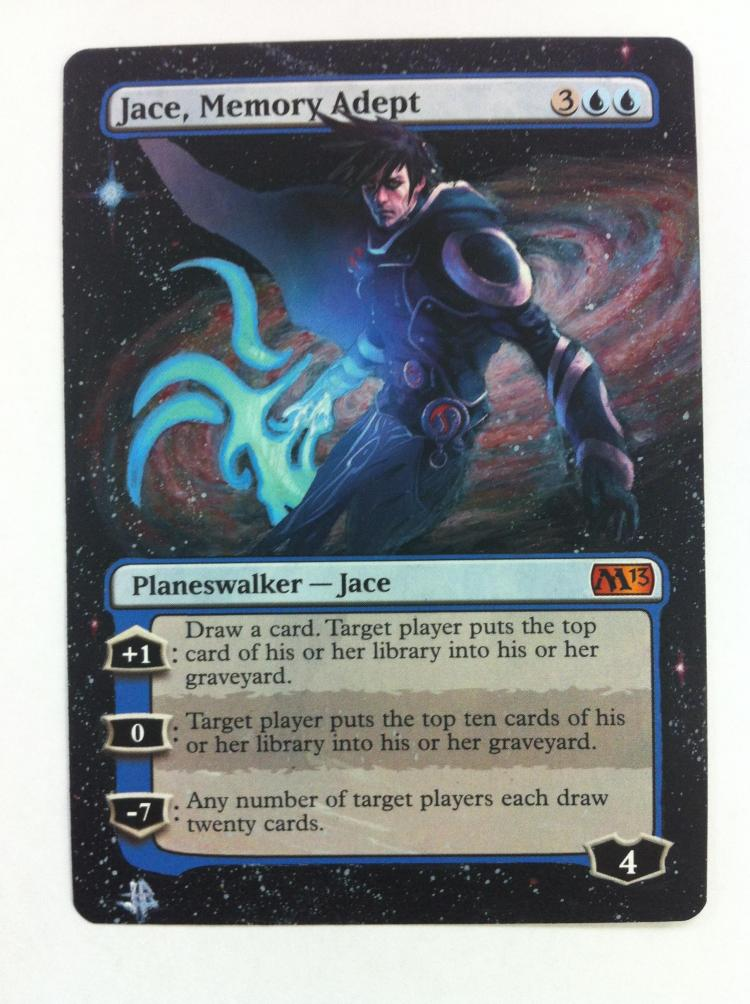 Jace, Memory Adept card alter by JB Alterz
