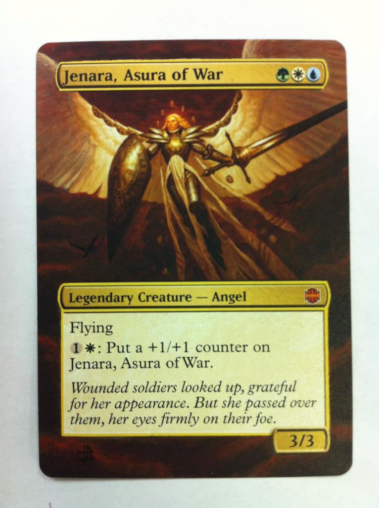 Jenara, Asura of War card alter by JB Alterz