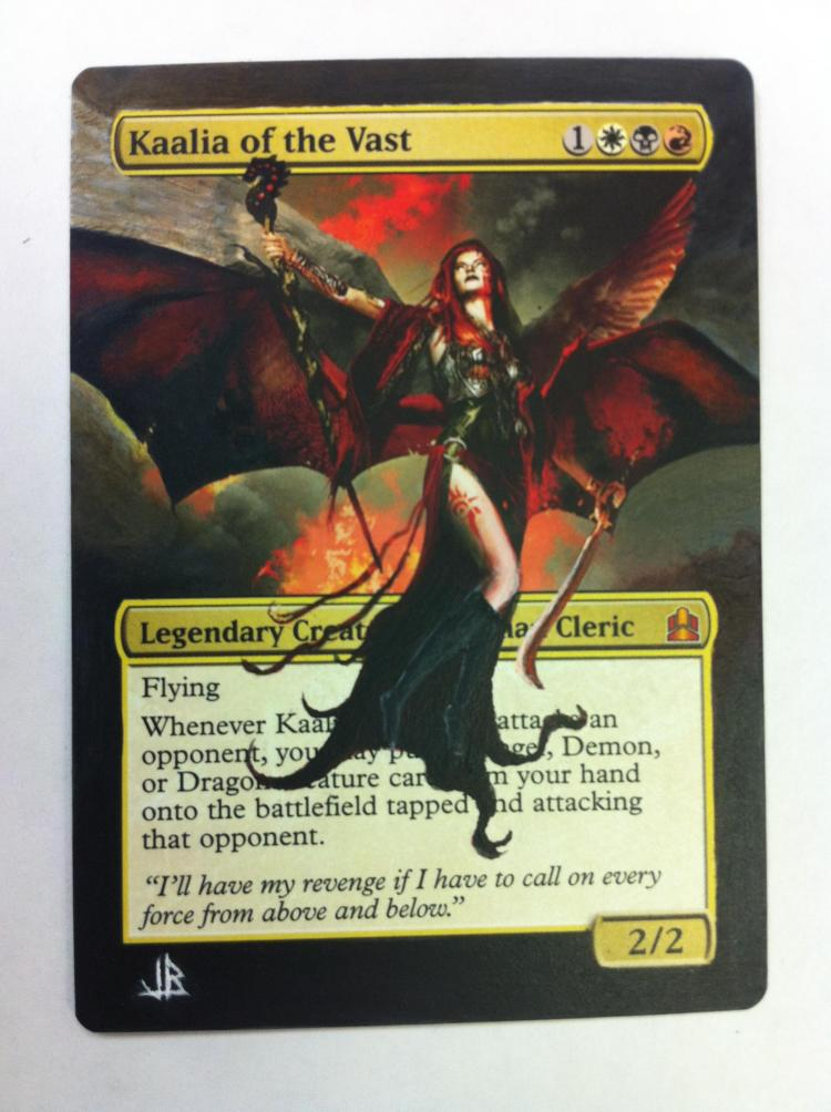 Kaalia of the Vast card alter by JB Alterz