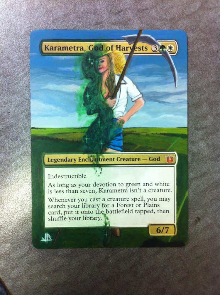 Karametra, God of Harvests card alter by JB Alterz