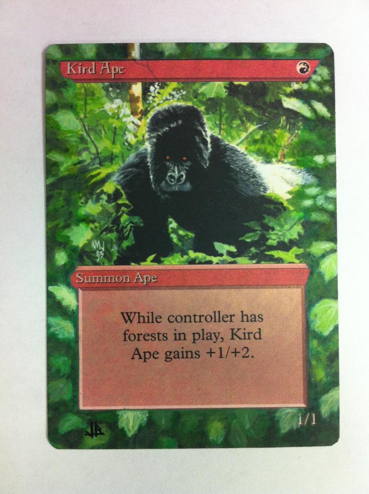 Kird Ape card alter by JB Alterz