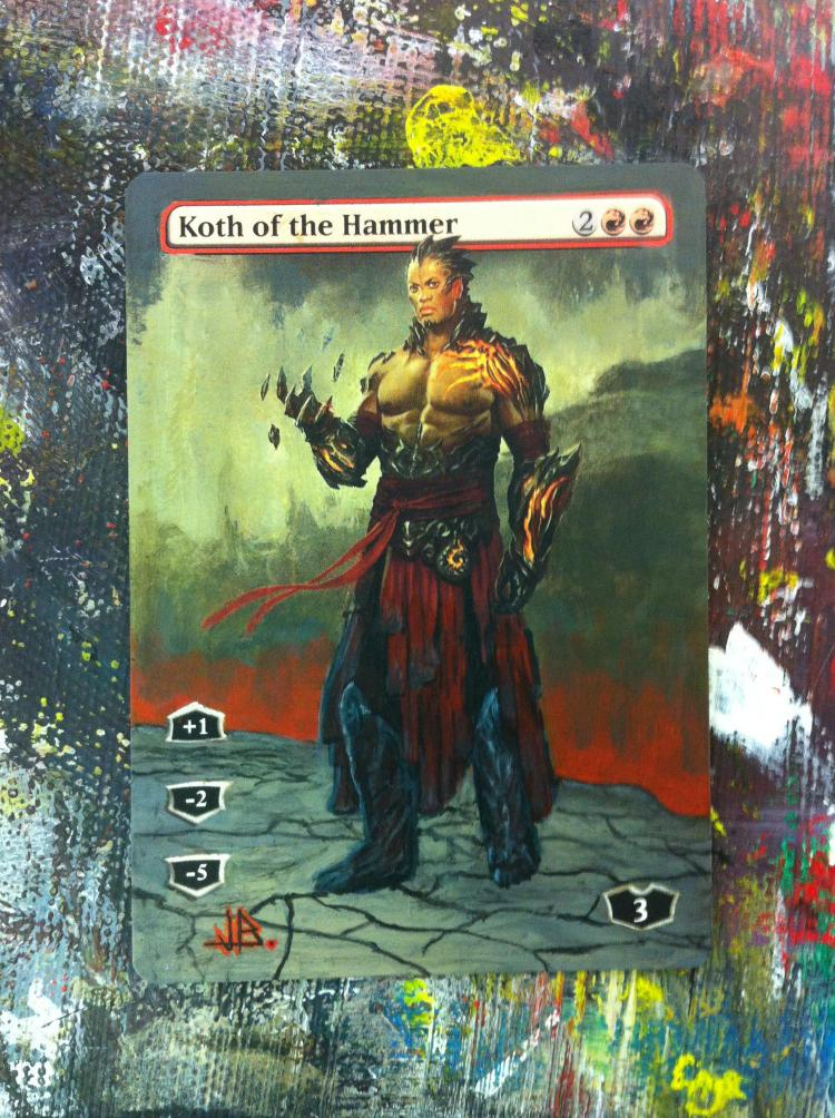 Koth of the Hammer card alter by JB Alterz
